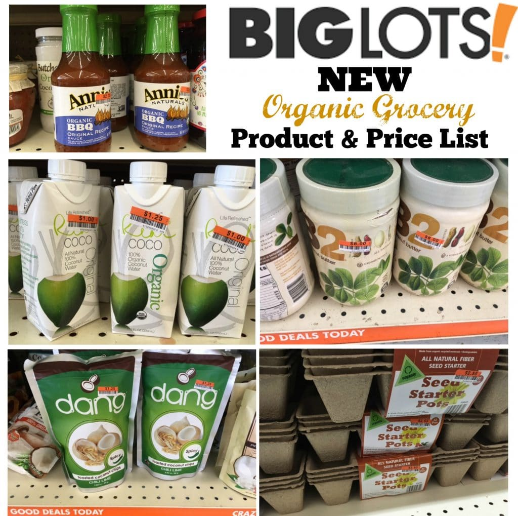 big lots product and price list organic june 2016