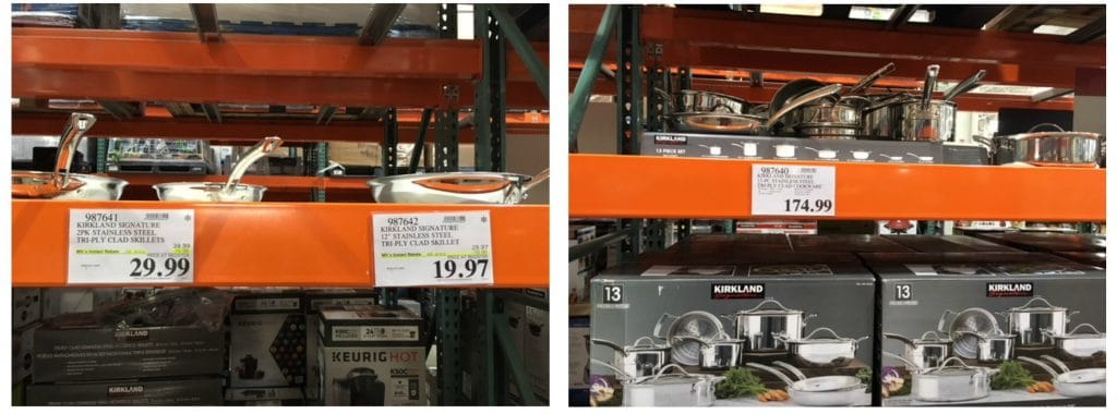 costco stainless steel cookware