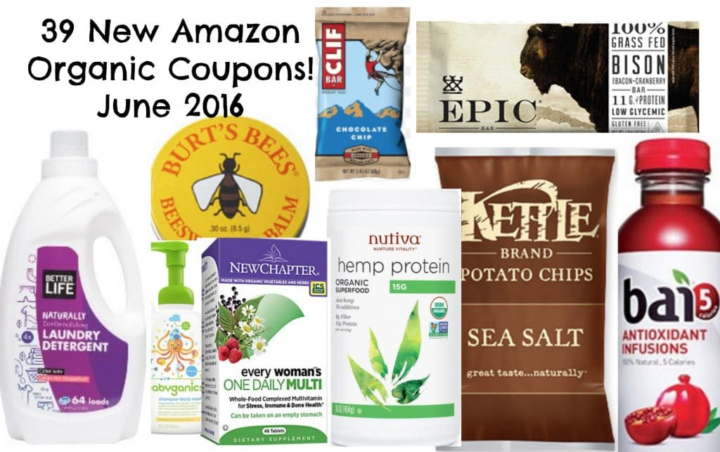 new natural and organic coupons on amazon june 2016