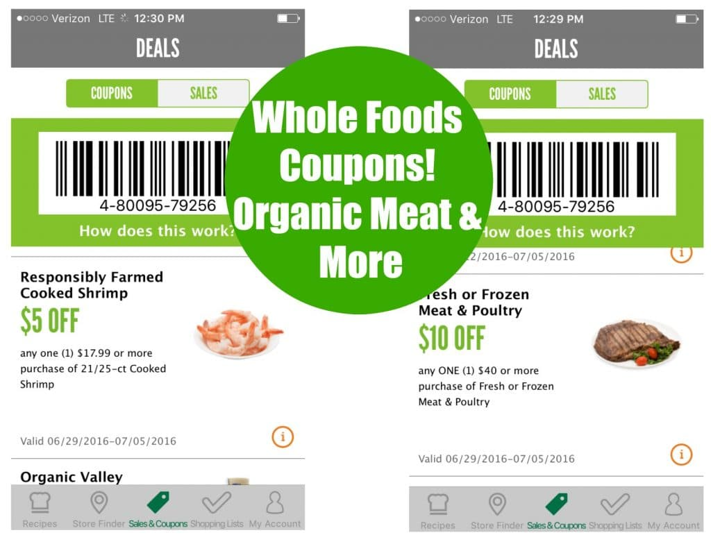 organic meat coupons whole foods