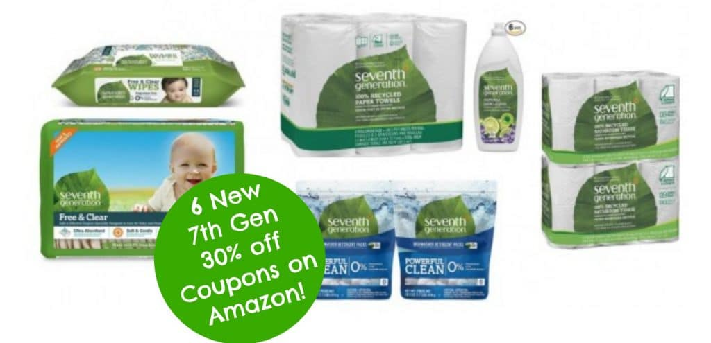 six new seventh generation 30 off coupons on amazon