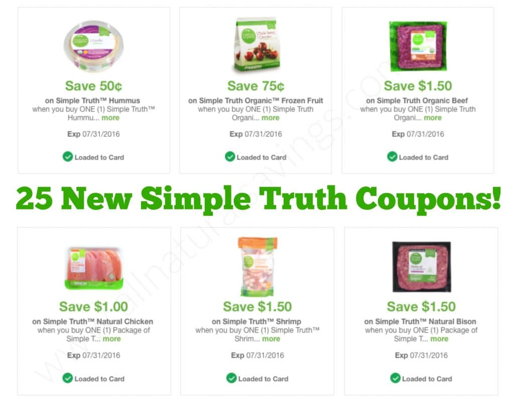 25 new simple truth organic coupons kroger