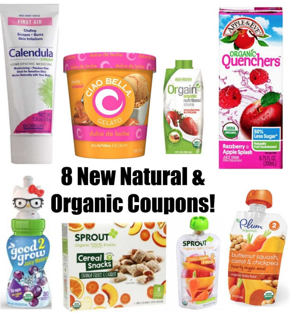8 new natural and organic printable coupons 71916