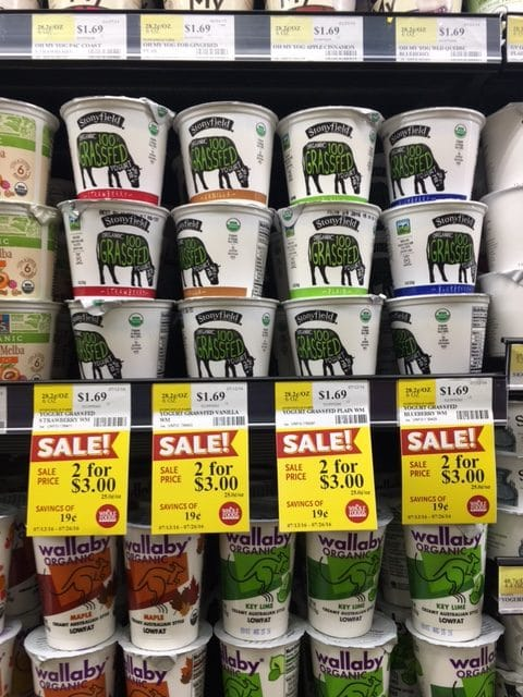 stony field organic grass-fed yogurt whole foods price