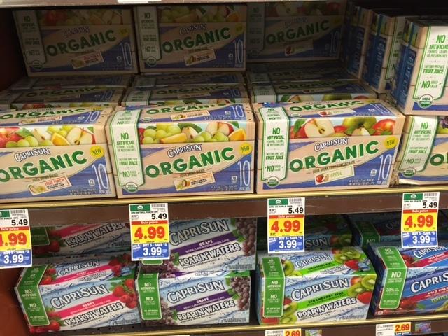capri sun kroger organic