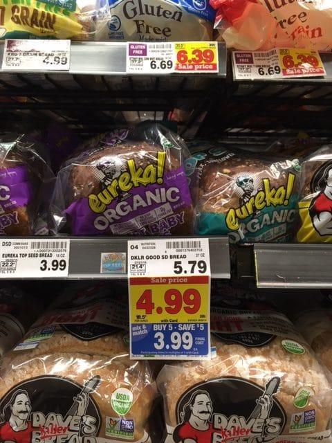 eureka organic bread kroger