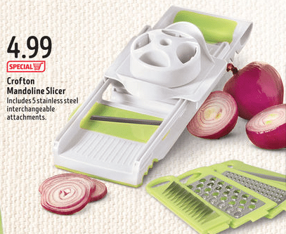 mandoline vegetable slicer at aldi