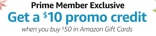free $10 amazon gift card with $50 card purchase