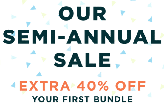 the honest co semi annual 40% off bundles sale