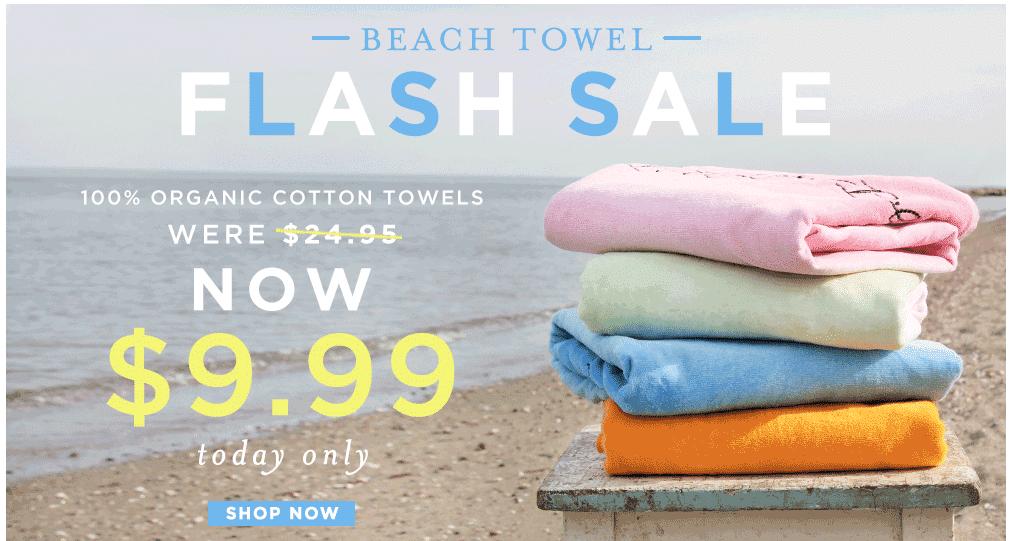 $10 organic beach towel burt's bees baby
