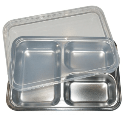 stainless steel lunch tray