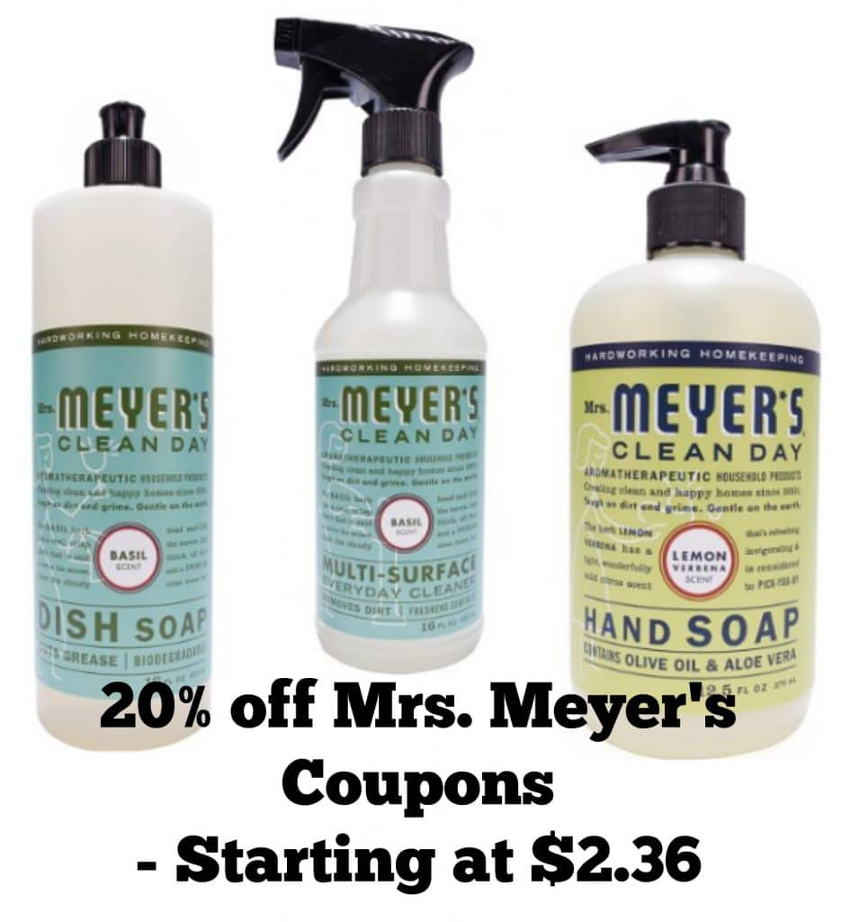 mrs. meyer's coupons amazon