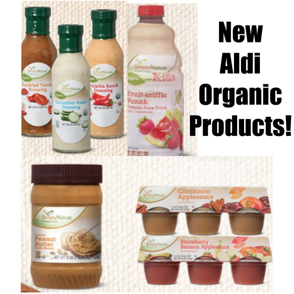 new simplynature products salad dressing, peanut butter and honey and applesauce cups, fruit punch