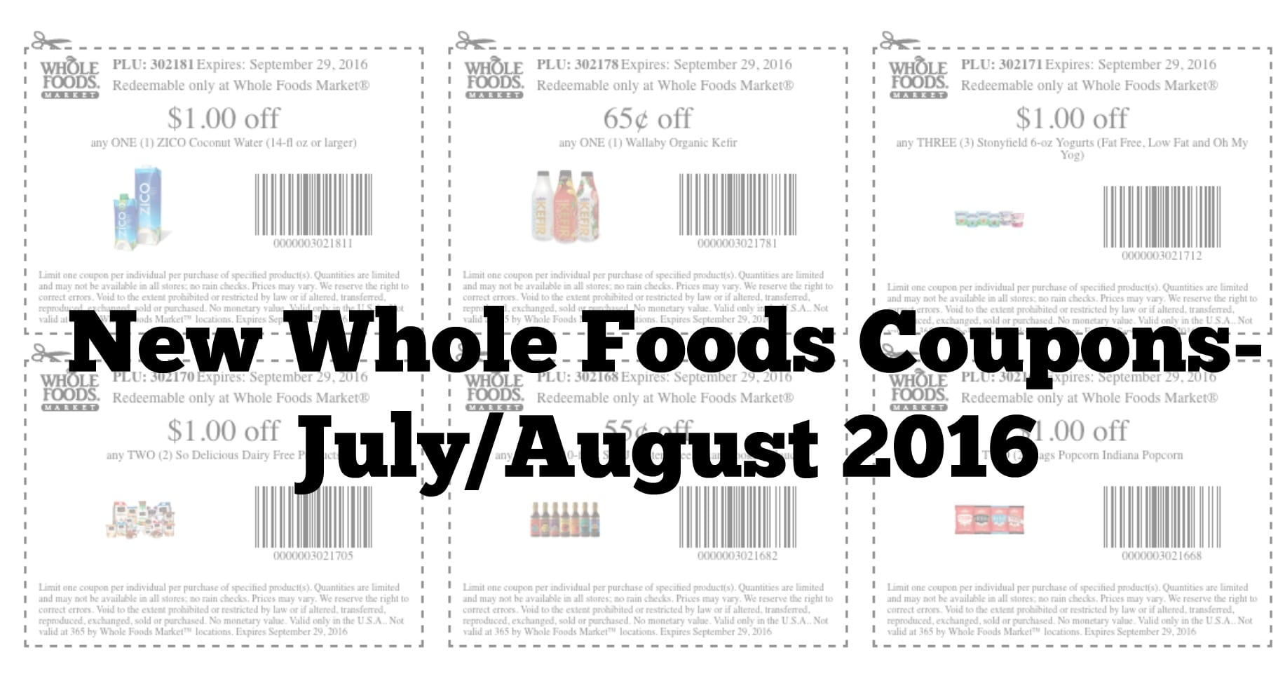 graphic relating to Whole Foods Printable Coupons titled Entire Food stuff Current market Printable Coupon codes - July/August 2016