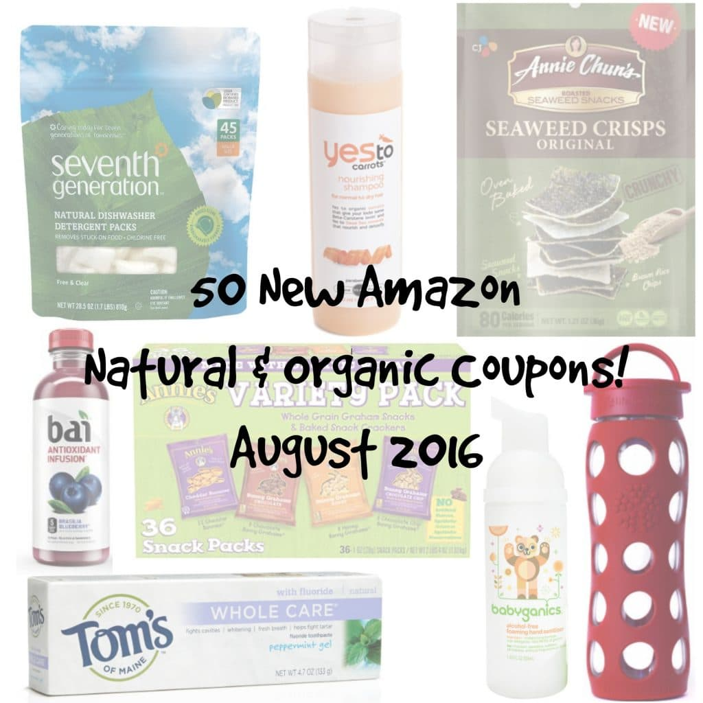 50 new amazon organic coupons august 2016