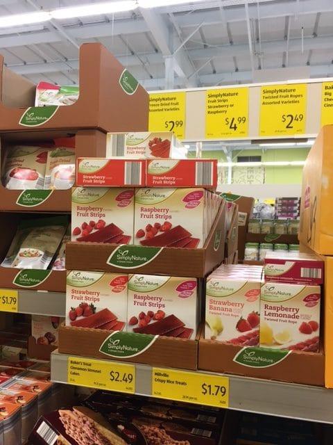 simplynature fruit snacks aldi