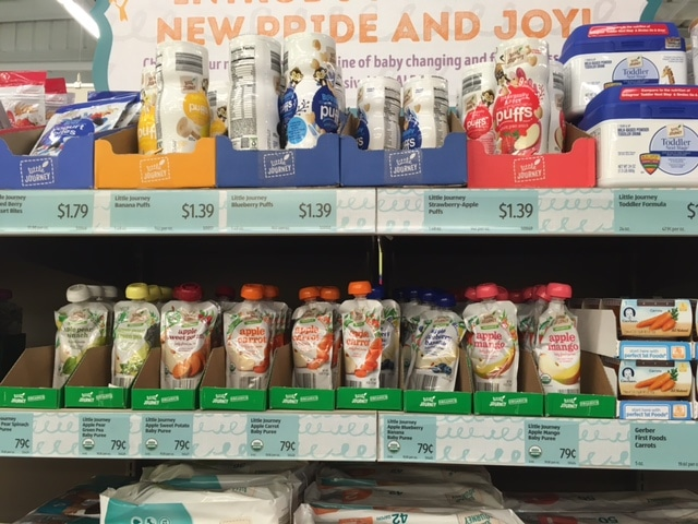 organic baby food at aldi pouches