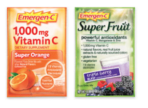 two free emergen c samples