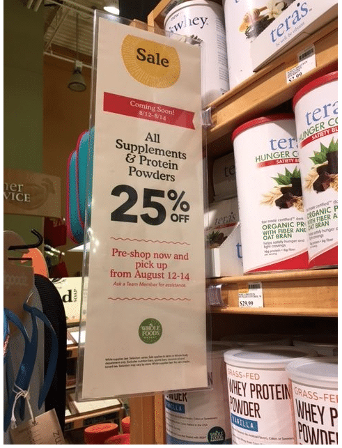 whole foods 2016 supplement sale 25%