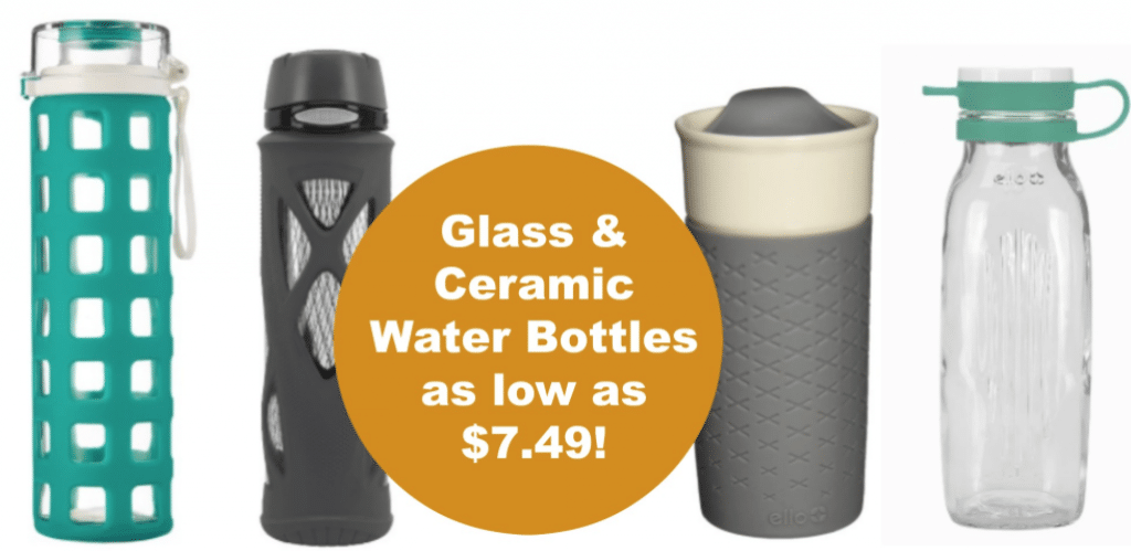 amazon deal of the day glass and ceramic water bottles