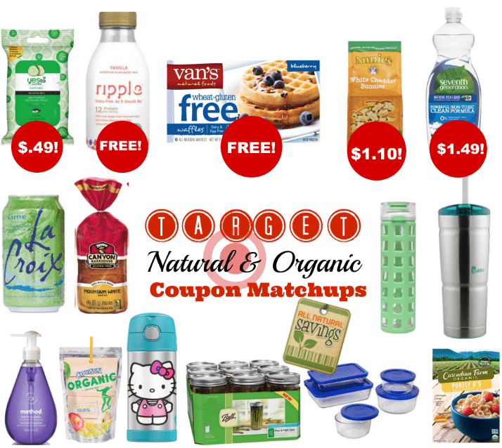 target organic coupon matchups august 2016