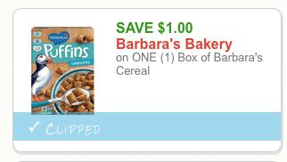 barbara's cereal coupon