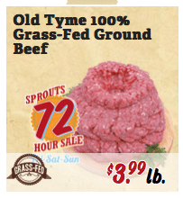 sprouts grass fed beef sale