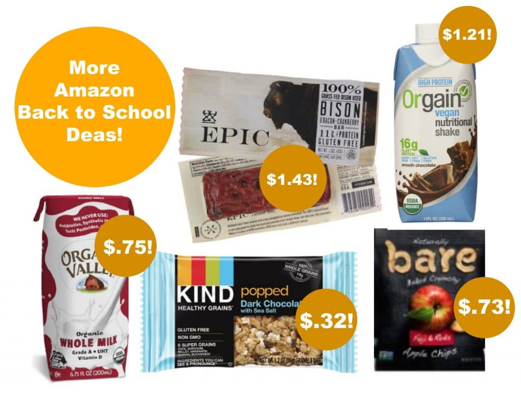amazon back to school organic deals
