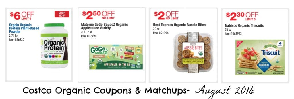 costco organic coupons and matchups august 2016