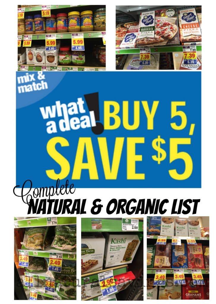 kroger mega event organic deals natural list buy 5 save $5