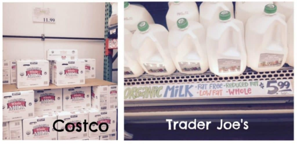 organic milk trader joe's costco