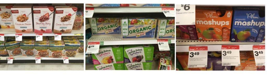 organic snacks and juice target