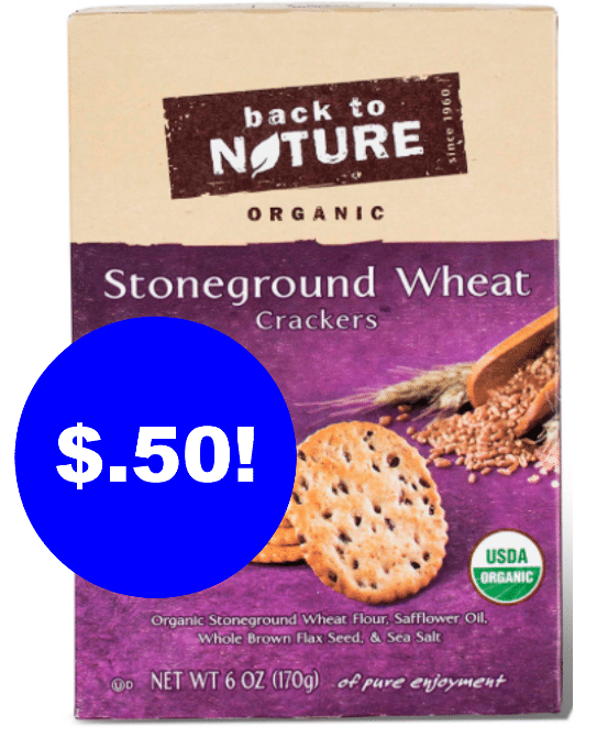 back to nature organic crackers