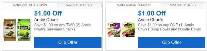 annie chun's coupons