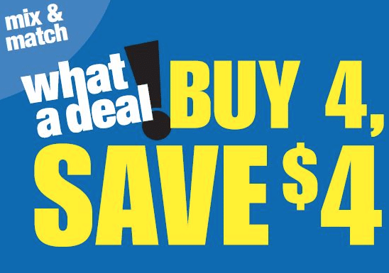 kroger buy 4 save $4 mega event organic