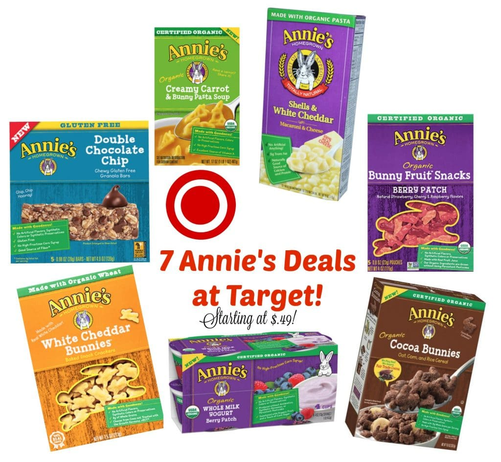 annie's deals at target with new coupons