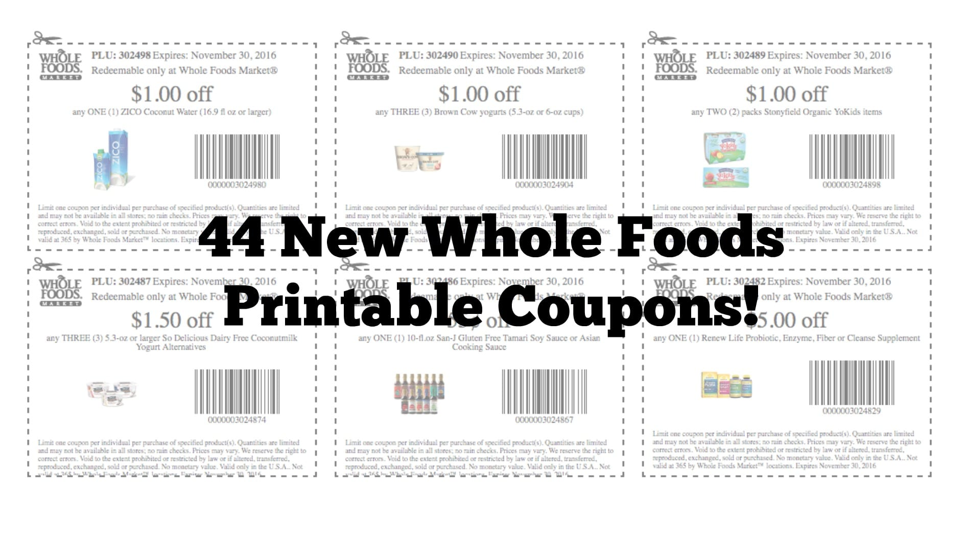 graphic about Whole Foods Printable Coupons named Entire Food items Current market Fresh new Entire Bundle Printable Discount coupons