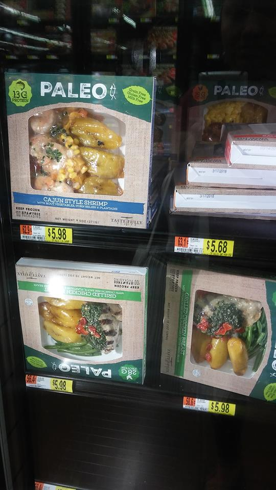 paleo frozen meals at walmart