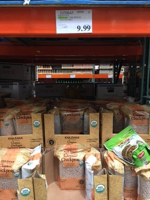 costco organic chickpeas