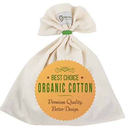 organic cotton unbleached nut milk bag