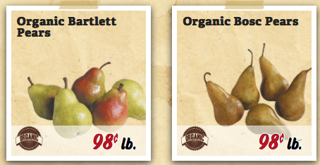 Stock up Price on Organic Pears at Sprouts Stores - All