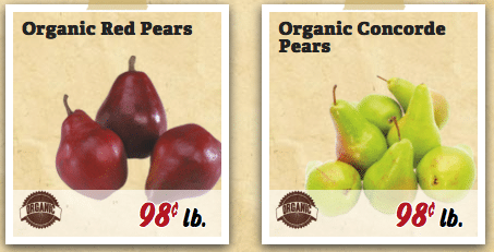sprout's ad organic pears price