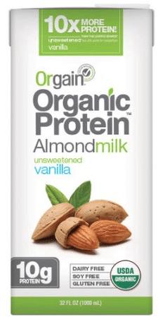 orgain almond milk organic