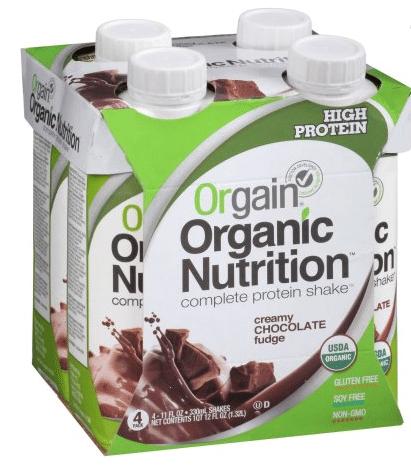 orgain nutritional shake organic