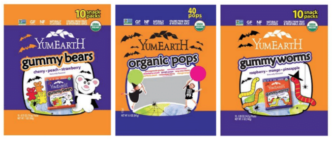 yumearth organic halloween candy