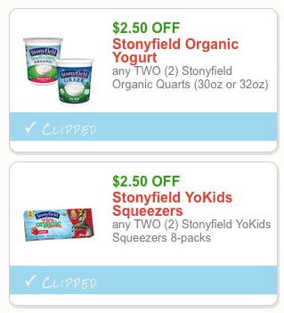 stonyfield organic yogurt coupons