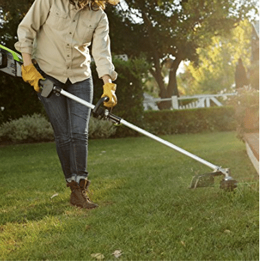 battery lawn trimmer eco