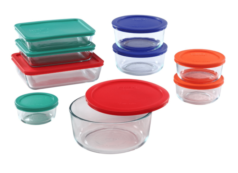 pyrex 18 pc glass storage