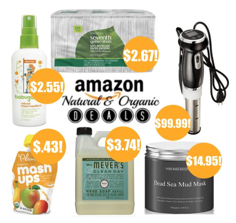 amazon natural and organic deals
