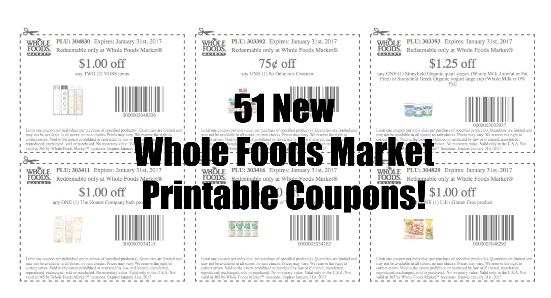 photograph regarding Whole Foods Printable Coupons named 51 Clean Printable Comprehensive Meals Market place Discount coupons- November